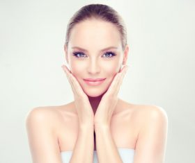 Smooth skin Beautiful women Stock Photo 06