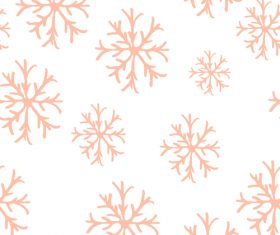 Snowflake pattern seamless hand drawn vector