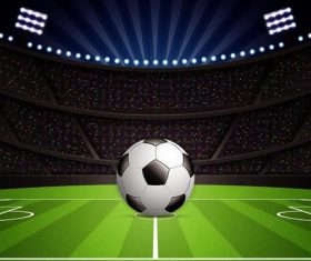 Soccer stadiums background with sportlight vector 03