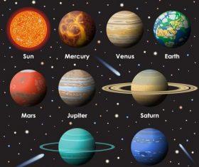 Solar system planet illustration vector 01