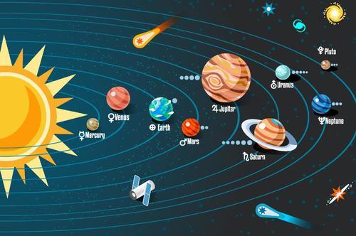 Solar system planet illustration vector 02