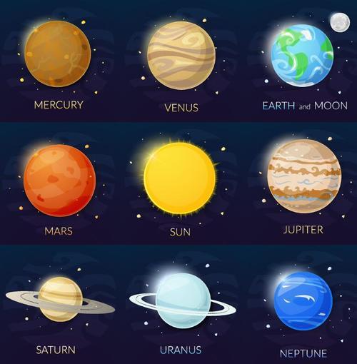 Solar system planet illustration vector 03