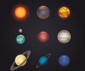 Solar system planet illustration vector 04