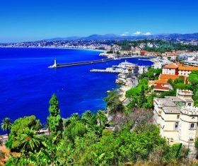 Southern France City Nice Stock Photo 01