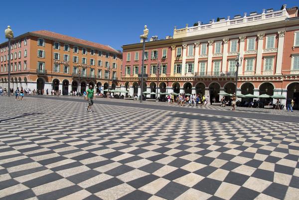 Southern France City Nice Stock Photo 04