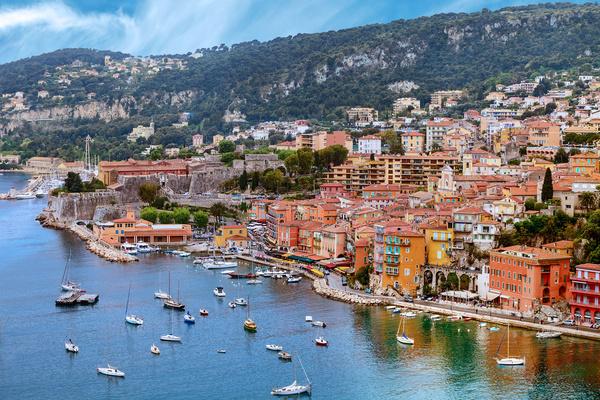 Southern France City Nice Stock Photo 05