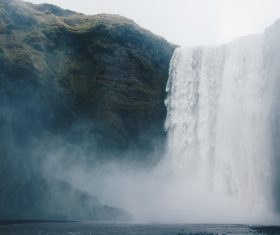 Splashing waterfall landscape Stock Photo