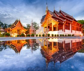 Splendid temple architecture Stock Photo 08