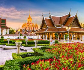 Splendid temple architecture Stock Photo 14