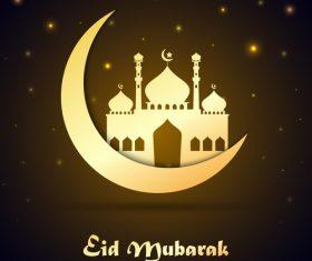 Stars light with ramadan mubarak background vector