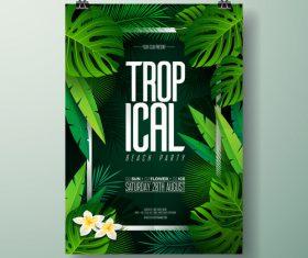 Summer beach party poster templates vector set 01