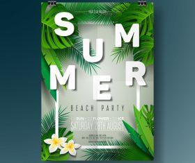 Summer beach party poster templates vector set 03