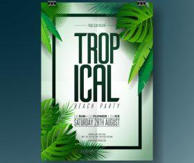 Summer beach party poster templates vector set 04