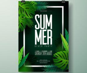 Summer beach party poster templates vector set 05