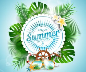 Summer holiday travel design vector
