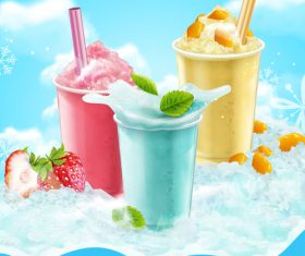 Summer ice drink vector material 03