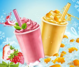 Summer ice drink vector material 04