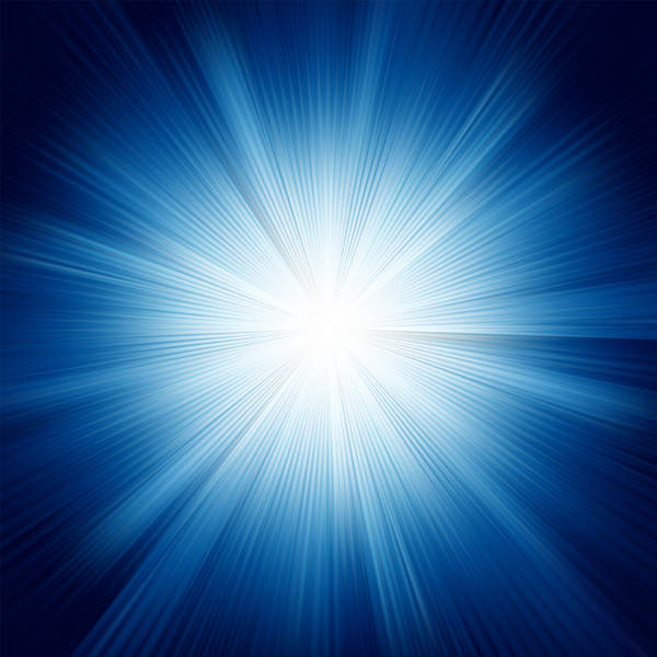 Sun light with blue background vector