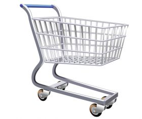 Supermarket trolley design vector 01