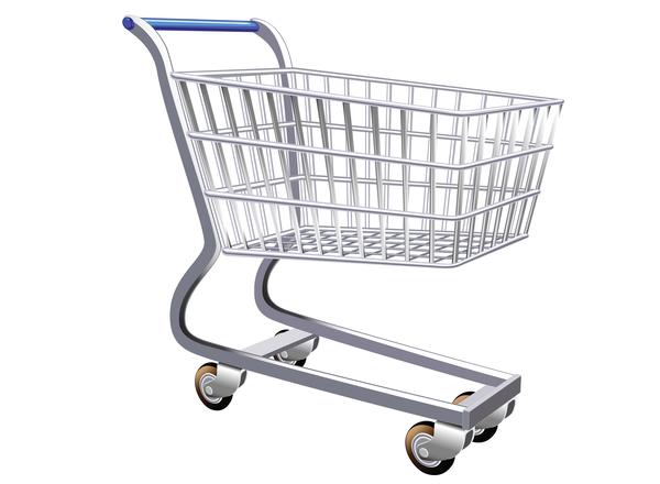 Supermarket trolley design vector 01
