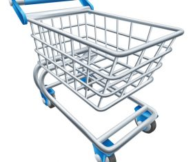 Supermarket trolley design vector 02