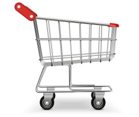 Supermarket trolley design vector 03