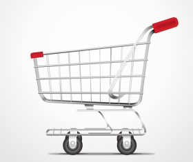 Supermarket trolley design vector 04
