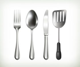 Tableware with kitchenware vector