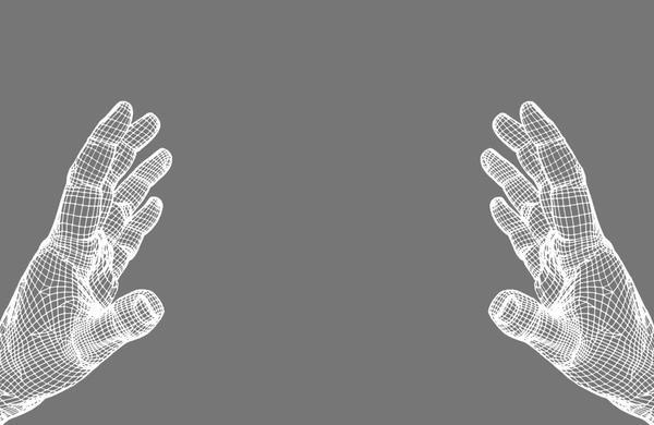 Tech hands conpect vector illustration