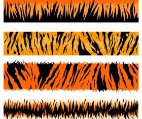 Tiger skin patterns vector