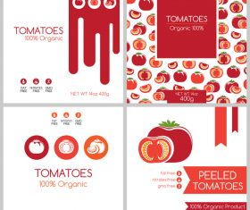 Tomato package box template vector