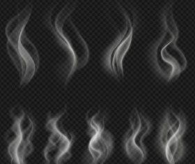 transparent smoke illustration set vector 03