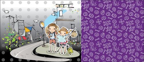 Travel Cartoon Characters vector