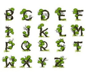 Tree branches alphabet vectors