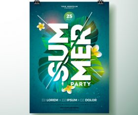 Trocipal summer beach party flyer template vector 06