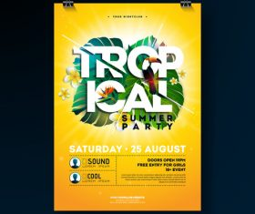Trocipal summer beach party flyer template vector 09