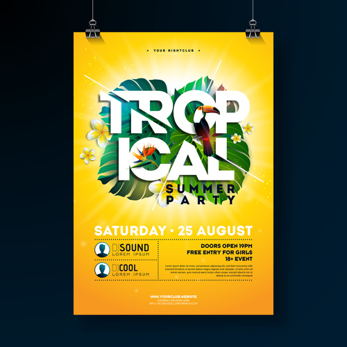 Trocipal Summer Beach Party Flyer Template Vector 09 Free Download