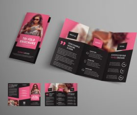 Universal vector business brochure tri-fold 01