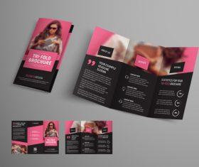 Universal vector business brochure tri-fold 01
