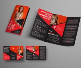 Universal vector business brochure tri-fold 02