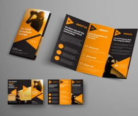 Universal vector business brochure tri-fold 04