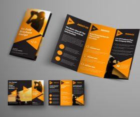 Universal vector business brochure tri-fold 04