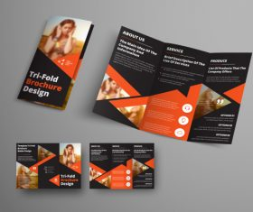 Universal vector business brochure tri-fold 05