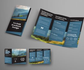 Universal vector business brochure tri-fold 07