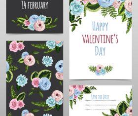 Valentine card kit vector