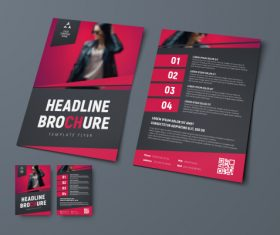 Vector brochure with place for photo 01