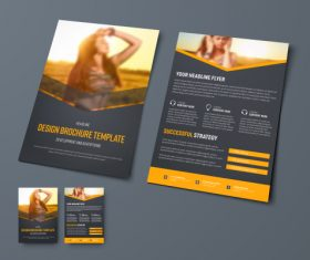 Vector brochure with place for photo 02