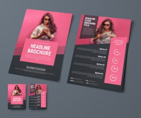 Vector brochure with place for photo 04