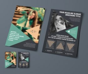 Vector brochure with place for photo 05