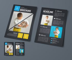 Vector brochure with place for photo 07